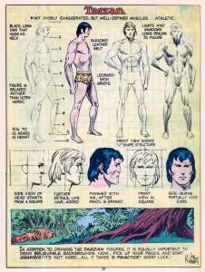 Estudio Tarzan por Kubert