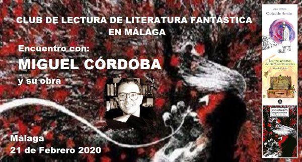 Convocatoria del 12º encuentro, con Miguel Córdoba